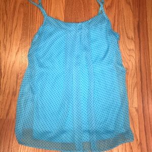 NY&C Blue Polka Dot Tank Top